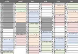Planning CRFPA 2016-2017 galops d'essai