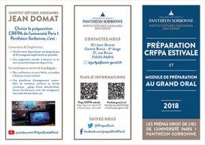 Plaquette prépa CRFPA été 2018
