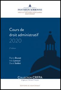 Couverture Cours de droit administratif 2020