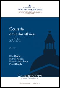 Couverture Cours de droit des affaires 2020