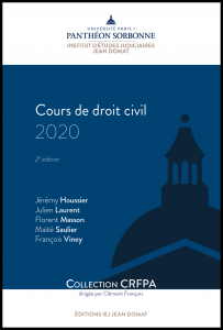 Couverture Cours de droit civil 2020