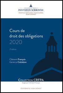 Couverture Cours de droit des obligations 2020