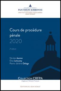 Couverture Cours de procédure pénale 2020
