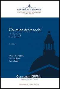 Couverture Cours de droit social 2020