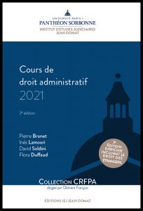 Couverture Cours de droit administratif 2021