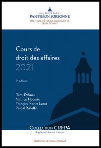 Couverture Cours de droit des affaires 2021