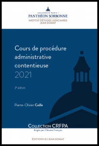 Couverture Cours de procédure administrative contentieuse 2021
