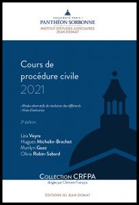 Couverture Cours de procédure civile 2021