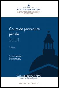 Couverture Cours de procédure pénale 2021